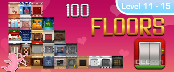 100 Floors L 246 Sung Valentines Special Level 11 12 13 14